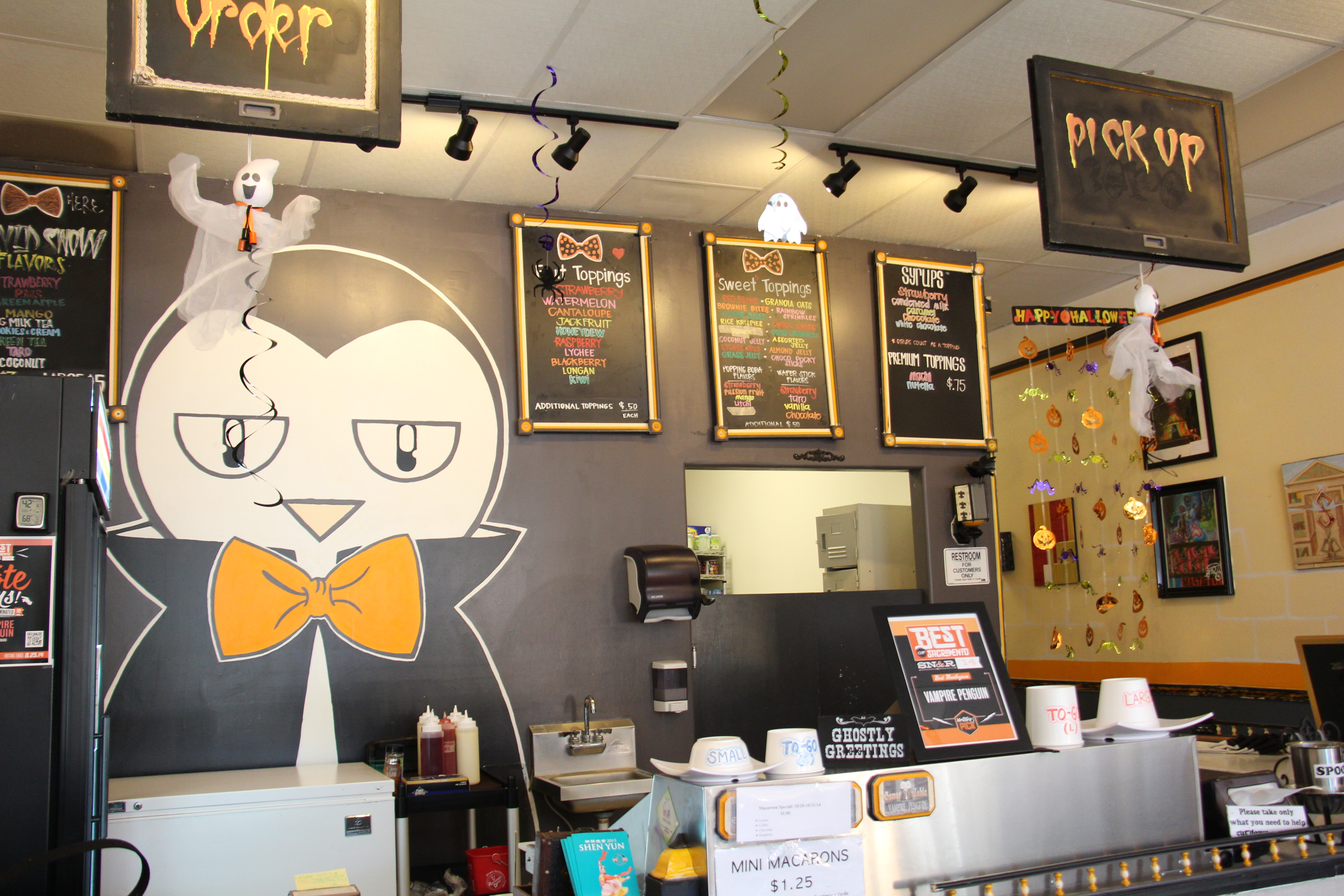 Vampire Penguin Taking On The World One Shaved Snow Dessert At A